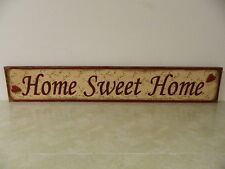 LRG COUNTRY PRIMITIVE RUST COLORED HOME SWEET HOME WALL PLAQUE PIP BERRY DESIGN