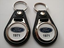 1971 FORD KEYCHAIN 2 PACK CLASSIC TRUCK AND CAR  LOGO
