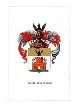 Araldica stemma araldico della famiglia Sangiuliani di Como
