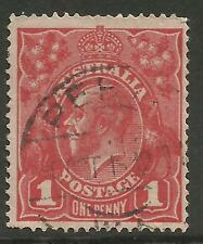 AUSTRALIA KGV KING GEORGE V One Penny Red 1d Single Watermark Used (No 89)