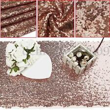 """12X106"""" Rose Gold Sparkly Sequins Table Cloth Background For Wedding Party Decor"""