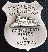 Western Atlantic R.R. Confederate States of America Replica Badge - Made USA