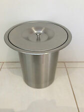 Stainless Steel kitchen benchtop waste bin- Concealed in Bench hole