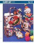 Clown Set ~ Tote Frame Tissue Cover & More, Annie's plastic canvas patterns