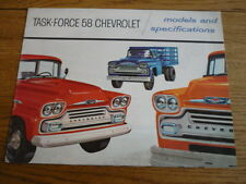 CHEVROLET VAN LORRY TRUCK COMMERCIAL BROCHURE 1958 jm