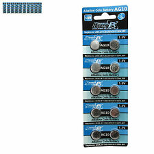 100 pcs AG10 GP189 SR54 LR1130 L1131 1.5V Alkaline Button Cell Battery HyperPS