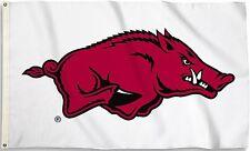 Arkansas Razorbacks 3' x 5' Flag (Logo Only on White) NCAA Licensed