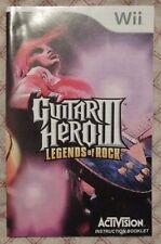 Nintendo Wii - Guitar Hero III Legends of Rock (Bilingual manual only)