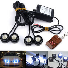 4X LED Eagle Eye Knight Night Rider Scanner Lighting DRL With Remote For Car 12V