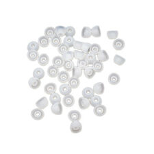 50pcs Soft 11MM Replacement Silicon Ear Jad Earbud In-Ear Earphone Cover ClearJE