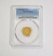 1869-S Liberty Head Gold Quarter Eagle $2.50 Coin Pcgs Xf 45