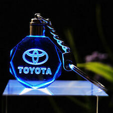 Car Logos LED night Light changing crystal Key Chain Keychain Keyfob for Toyota