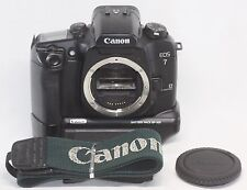 Excellent Canon EOS 7 35 mm SLR Film Camera Body Only w/ Battery Pack BP-300
