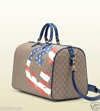 $1,450 NEW ! GUCCI GG-Plus canvas UNICEF Carry on Bag.
