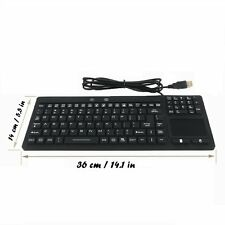 Eggsnow Industrial Waterproof Keyboard with Touchpad for Windows PCs - 106 Keys
