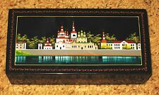 PALEKH FEDOSKINO RUSSIAN LACQUER BOX SCENE ON RIVER
