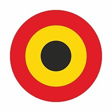 Belgium Air force Roundel Vinyl Sticker Decal for Laptop Helmet Hard Hat Locker
