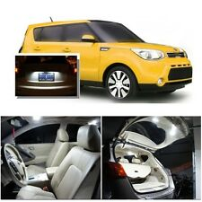For Kia Soul 2014-2016 Xenon White LED Interior kit + White License Light LED