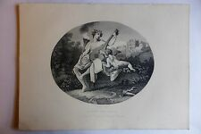 "WILLIAM HOGARTH ""HYMEN AND CUPID"" ENGRAVING ORIGINAL1850s PRINT"