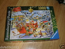 RAVENSBURGER SANTA`S CHRISTMAS SUPPER 1000 PIECE PREMIUM JIGSAW PUZZLE