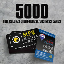 5000 Full Color High Gloss UV 2 Sided Business Cards  - FREE Shipping & Design!