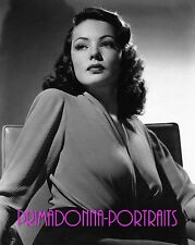 GENE TIERNEY 8X10 Lab Photo Rare REMARKABLE Beauty GLAMOUR PORTRAIT Actress