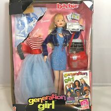 Barbie Roberts Generation Girl Doll in box Actress two outfits Mattel 1998