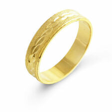Simple Yellow Gold Filled Mens Unisex Band Ring Size 10# A0469