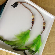 New Clip In On Hair Extension With Feather Synthetic Strip Highlight 9.84 Inches