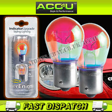 Ring Silver Enigma 12v Car 581 Blue Look Amber Orange Flashing Indicator Bulbs