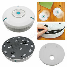 "9"" inch Home Robotic Smart Auto Cleaner Robot Microfiber Mop Dust sweeper white"