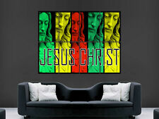 JESUS CHRIST RELIGION  ART IMAGE HUGE  LARGE PICTURE POSTER GIANT
