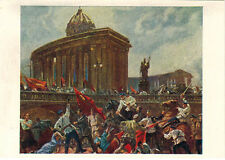 1963 RARE Russian card JULY 1917 DEMONSTRATION IN PETROGRAD by P.Sokolov-Skalya