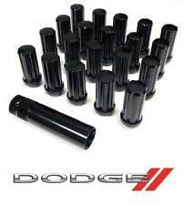 "32PC 9/16"" 51MM BLACK STEEL SPLINE LUG NUTS W/ KEY FOR DODGE RAM 2500"