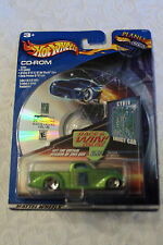 HOT WHEELS SUPER SMOOTH GREEN 2001 CD - ROM CYBER  ENERGY CAR - Mint in package