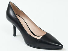 New  Prada Black  Leather Shoes Size 36 US 6
