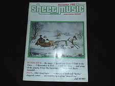 Sheet Music Magazine Christmas Songs Easy Piano-Guitar Back Issue