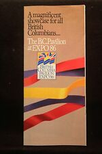 Wolrds Fair Expo 1986 Vancouver British Columbia Pavilion Fold Out Brochure NICE