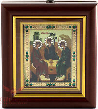 Wooden Christian Icon Holy Old Testament Trinity Hospitality  Abraham Cв Троица