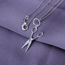 HOT! chains necklace sterling solid silver scissors pendant necklace XLSP102