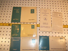 Mercedes W116 280/ 450SE/SEL 1976 US Owner's Manuals 1 set of 6 Booklets /Papers
