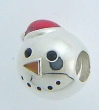 BRAND NEW 2025-2025 CHAMILIA STERLING SILVER & ENAMEL SNOWMAN CHARM NEW IN POUCH