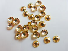 50 x Round Brass Bead Caps 5mm Gold Endbeads, Craft Supplies Findings