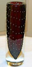 VINTAGE MURANO VASE CASED GLASS CONTROLLED BUBBLES Archimede Seguso