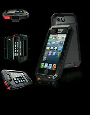 NEW Heavy Duty Aluminium Shockproof / Waterproof Gorilla Case iPhone 5 /5S black