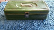 Vintage Union Metal Tool Box Utility Tackle with tools bundle
