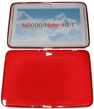 "Pattern Gel Case Protector Cover Red For Samsung Galaxy Note 10.1"" N8000 N8010"