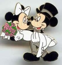 Mickey Minnie Mouse Groom Bride Wedding Married Marriage Honeymoon Disney Pin
