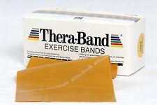 TheraBand Übungsband 2,5 m max. stark Gold Original Thera-Band NEU