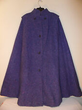 Vintage 1970's Jimmy Hourihan of Dublin Pure Wool Purple Donegal Tweed Cape Coat